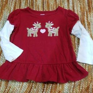 Gymboree 2t reindeer Christmas t shirt girls